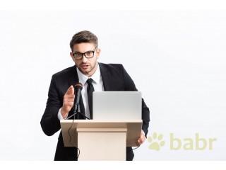 Переводчик во время лекций и семинаров в Солнечном